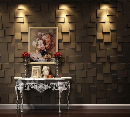 3D-Wallpaper-Bronze-500-500mm-RUBIC-